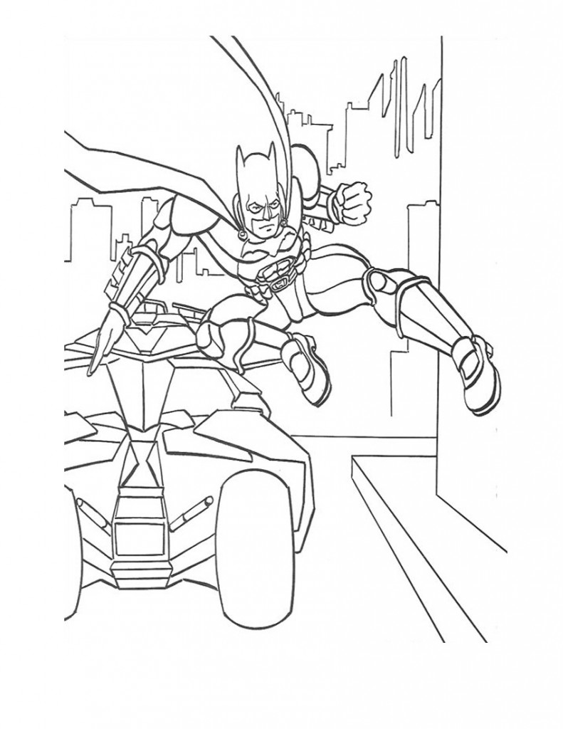 Coloring Page of Batman