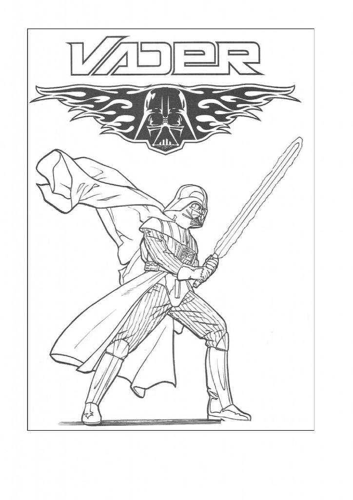 Darth Vader Coloring Page