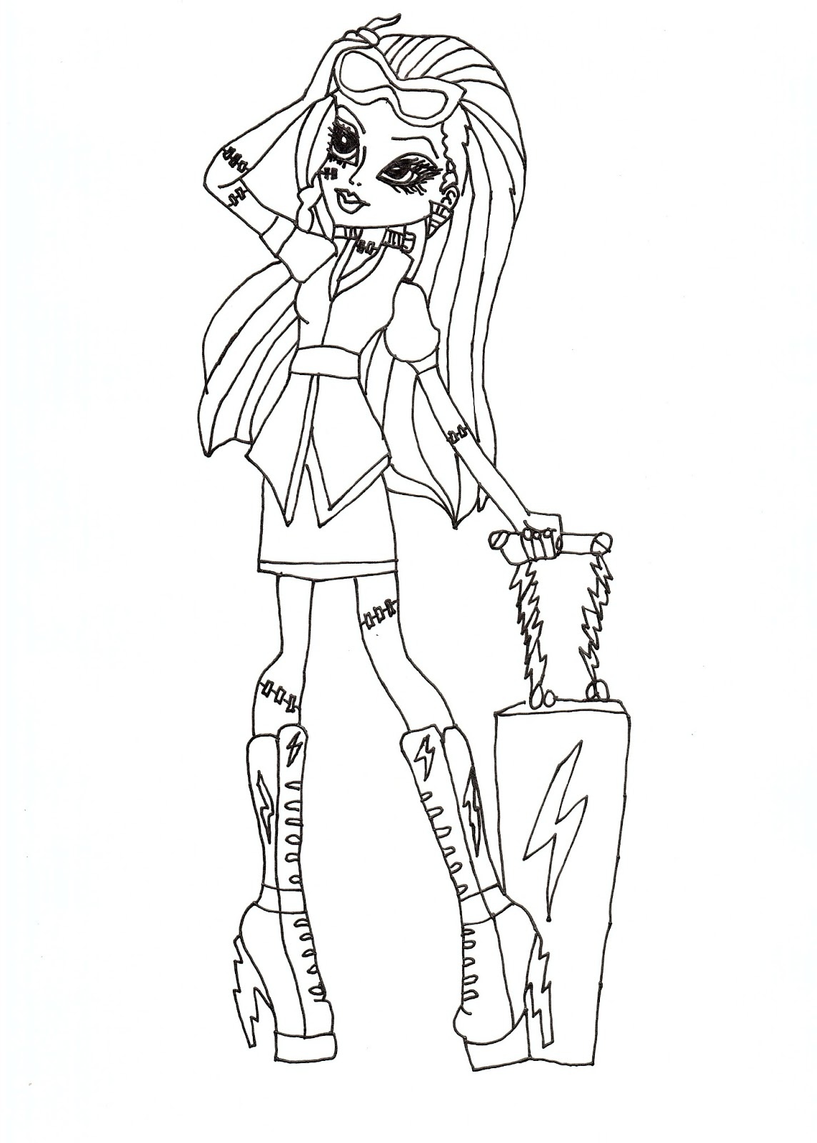 image relating to Free Monster High Printable called Totally free Printable Monster Substantial Coloring Web pages for Youngsters