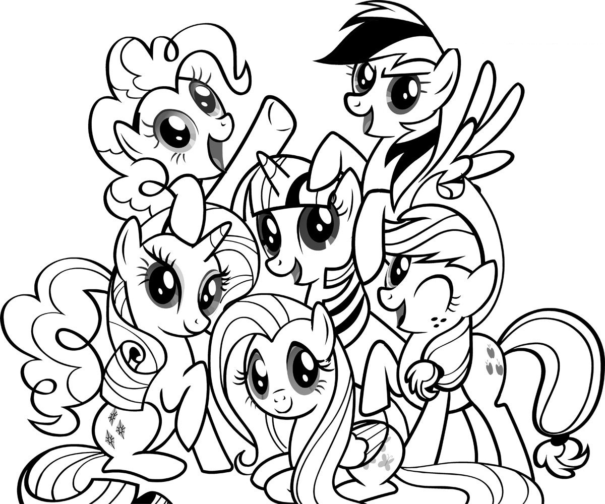 Beautiful Coloring Pages My Little Pony