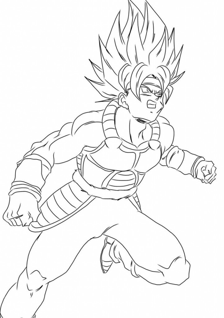 Coloring Pages of Dragon Ball Z Kai