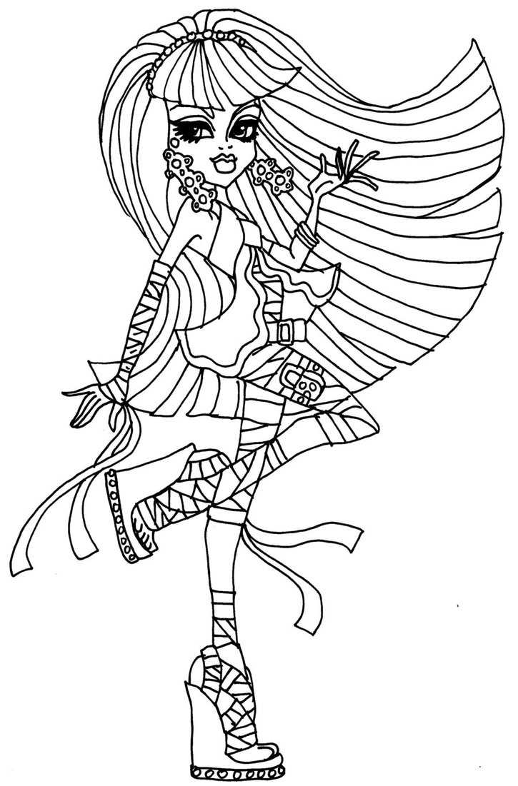 Ausmalbilder Monster High Spectra : Free Printable Monster High Coloring Pages For Kids