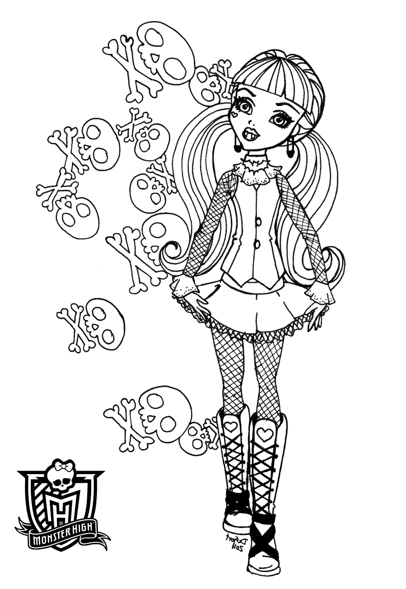 photo regarding Free Monster High Printable titled Free of charge Printable Monster Large Coloring Internet pages for Youngsters