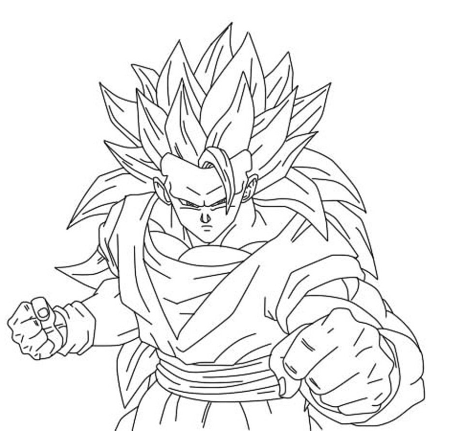 coloring pages dragonballz - photo#4