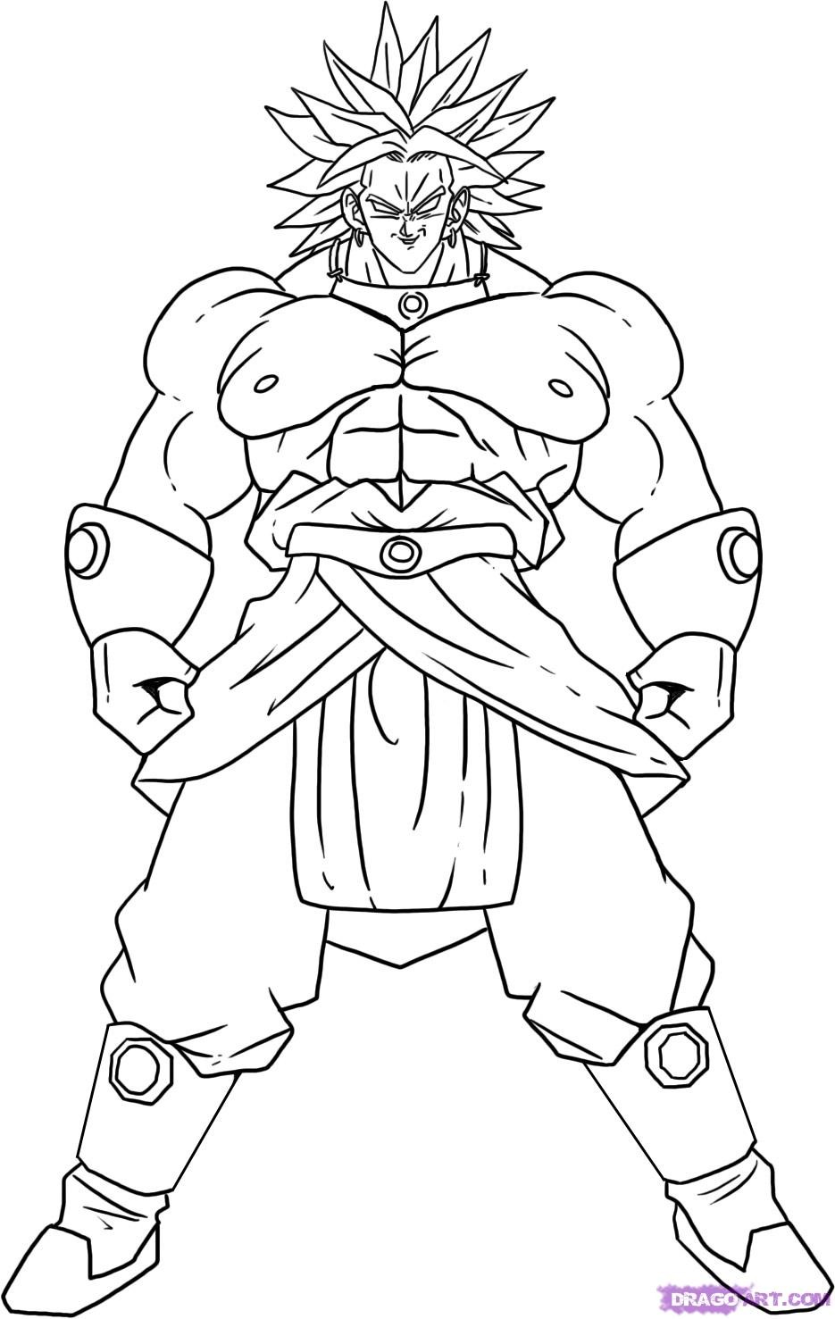 Free Printable Dragon Ball Z Coloring