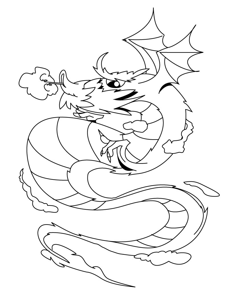 colors coloring pages free printable dragon coloring pages for kids