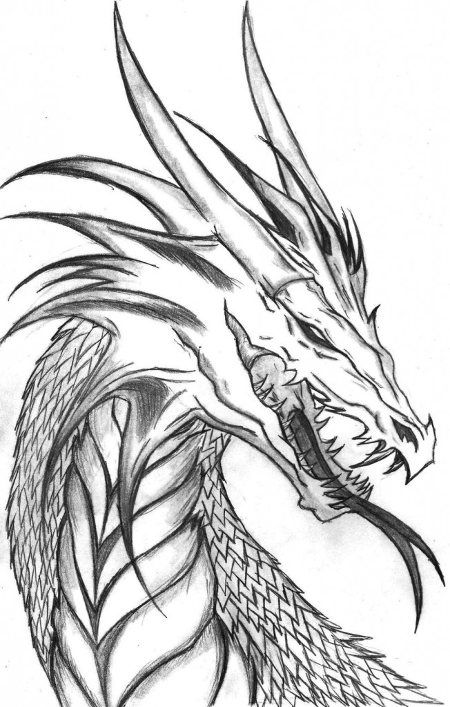 Dragon Head Coloring Page