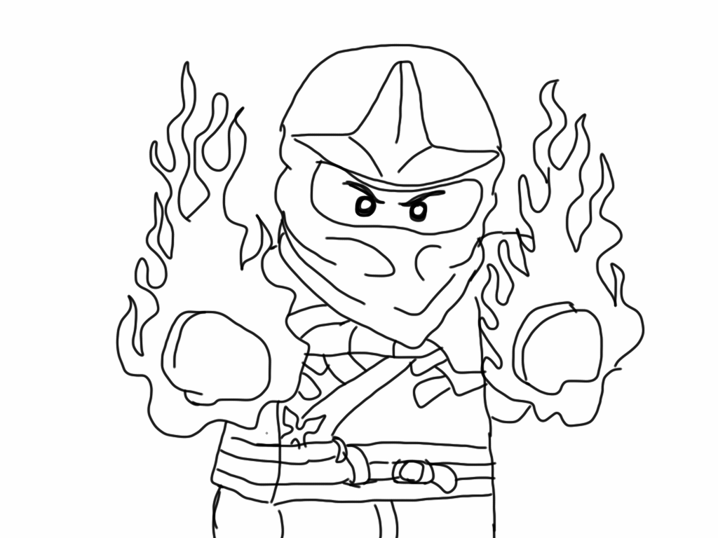 Free Printable Ninjago Coloring Pages For Kids - Kai-coloring-pages
