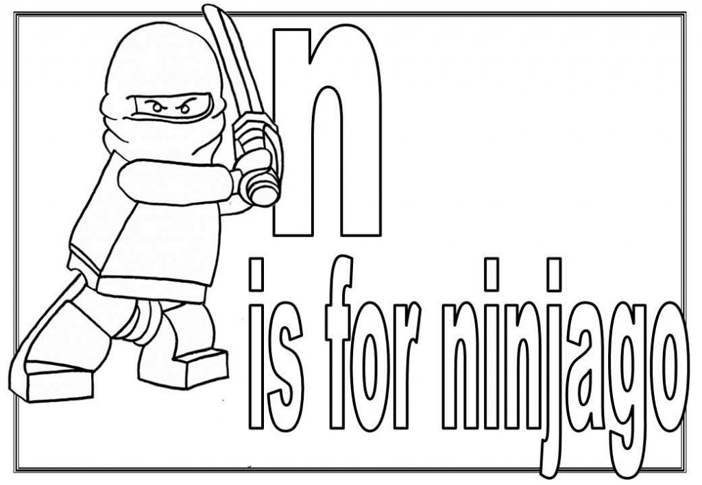 Lego Ninjago Printable Coloring Pages