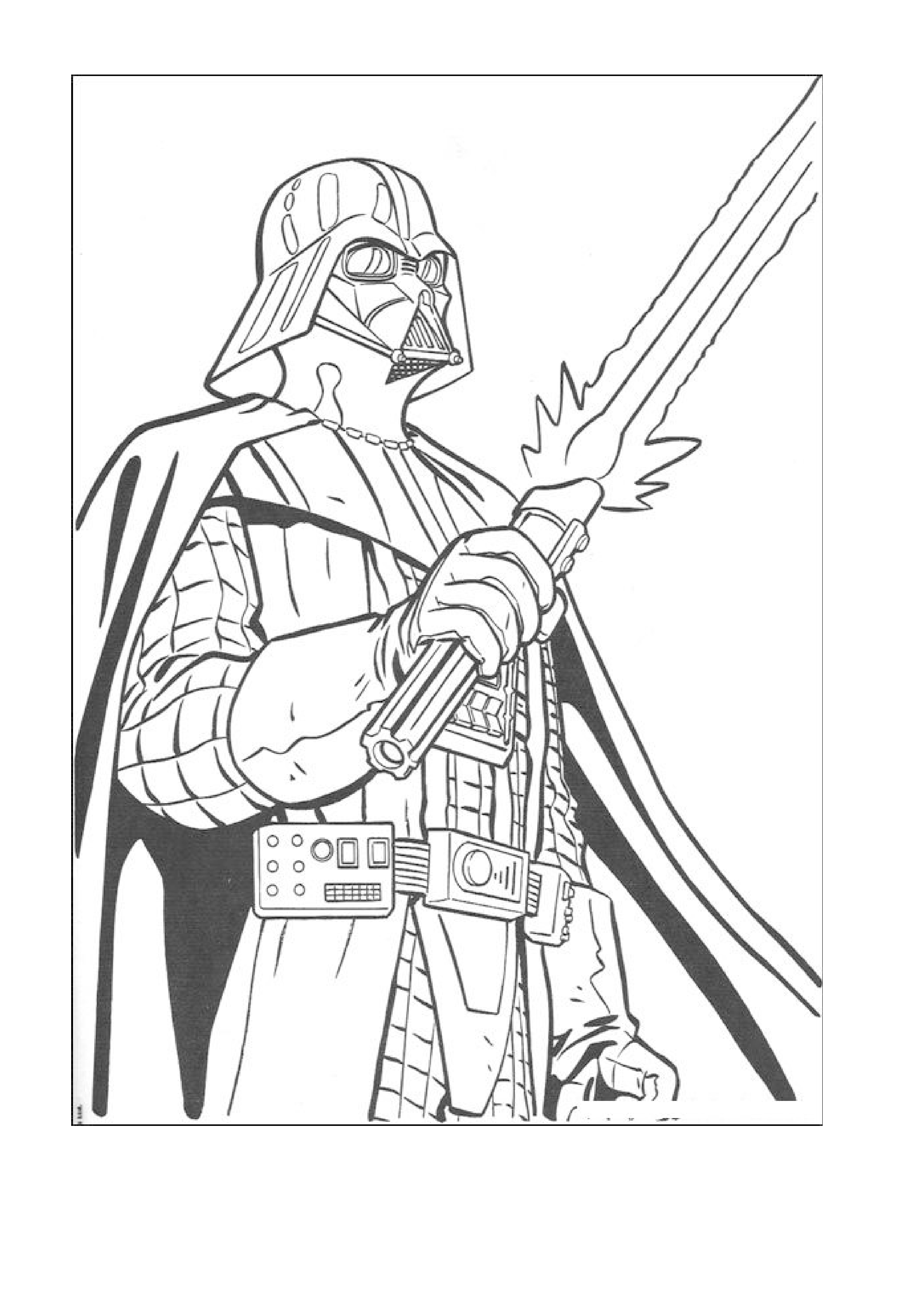 darth vader star wars coloring page