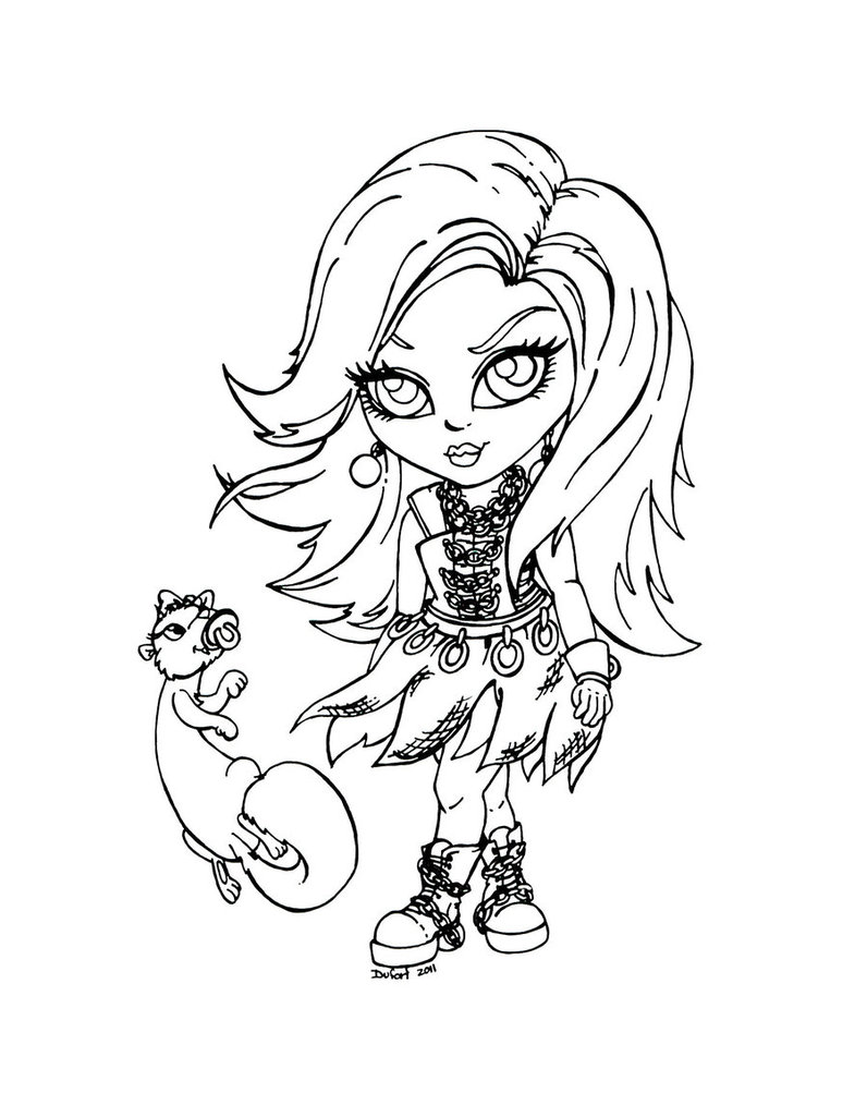 Monster High Baby Coloring Pages Pictures