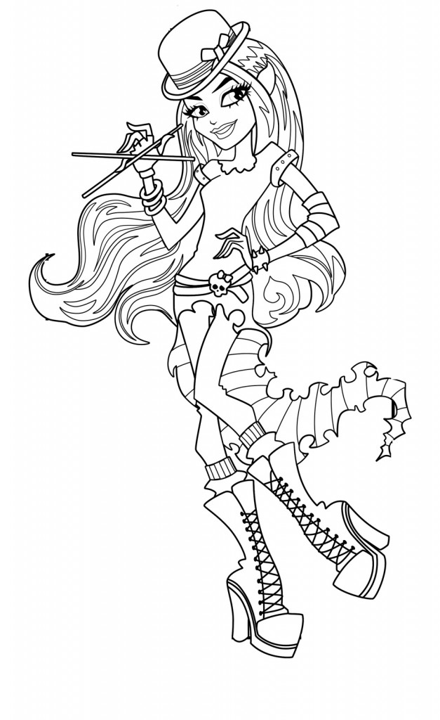 Monster High Coloring Page Images