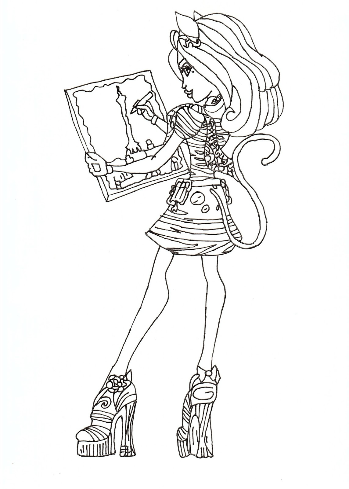 Free printable monster high coloring pages for kids Coloring book images