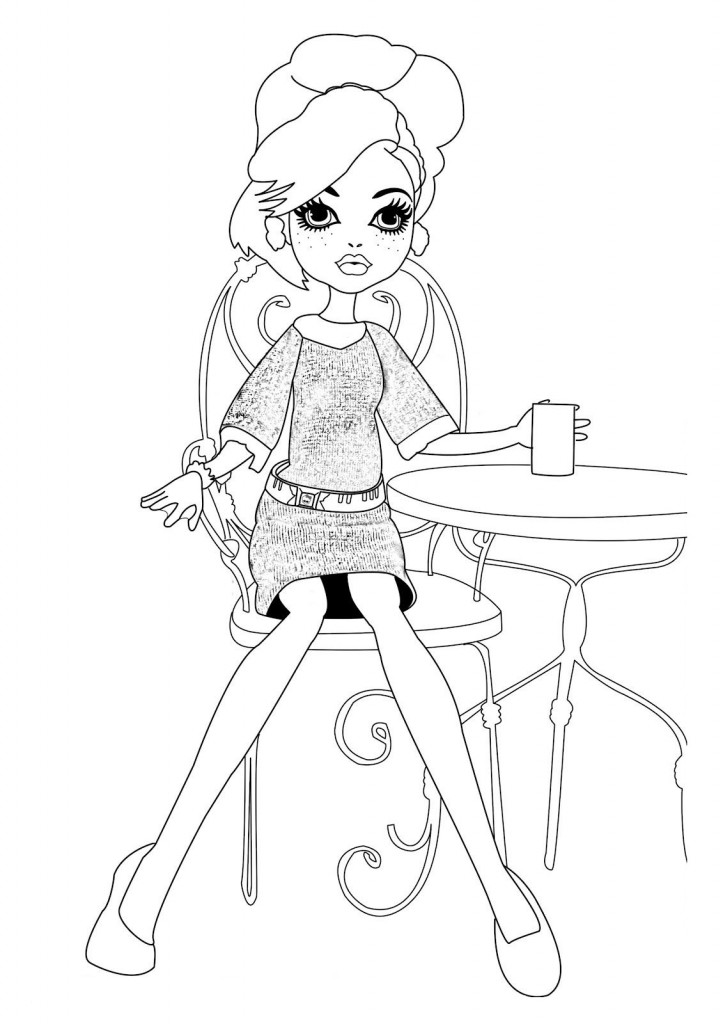 Monster High Coloring Pages to Print Images