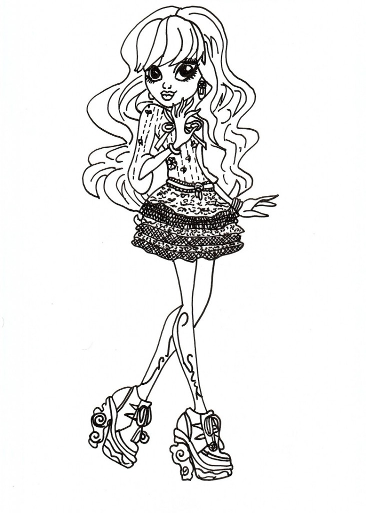 Monster High Coloring Pages to Print Photo