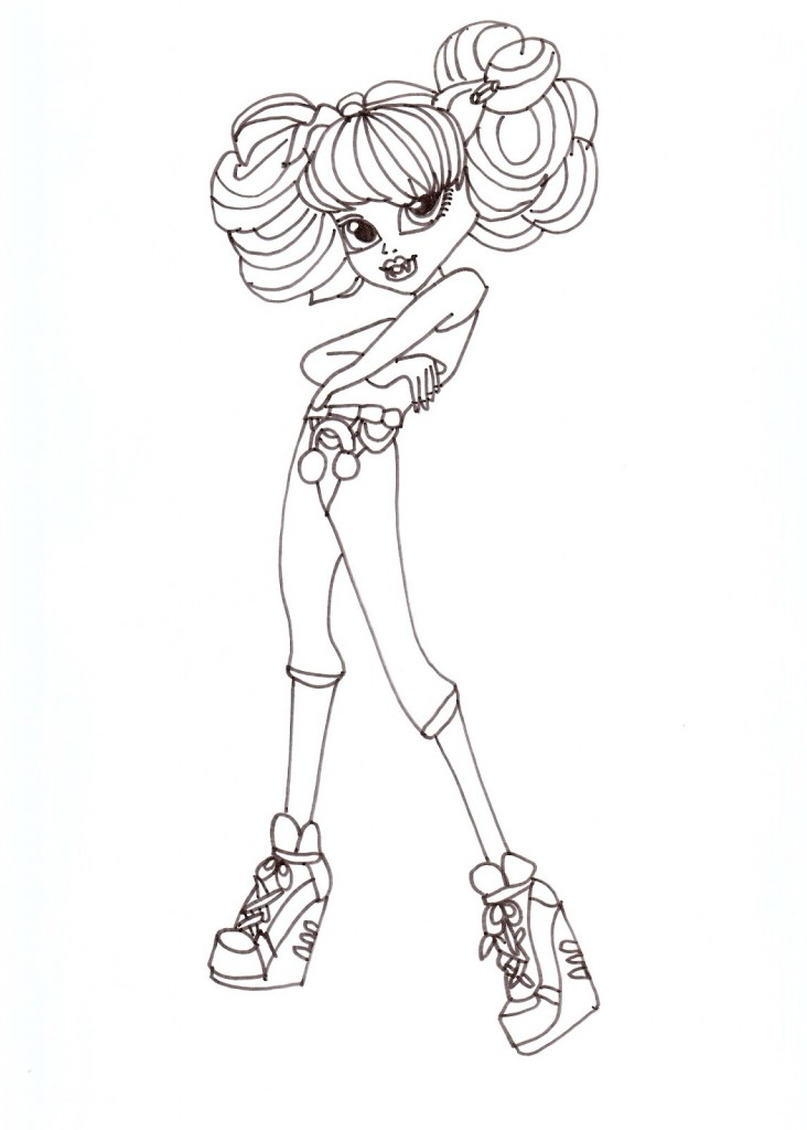 Monster High Dolls Coloring Pages Photos