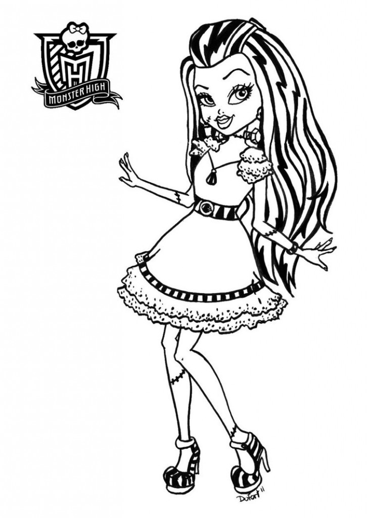 Monster High Printables Coloring Pages
