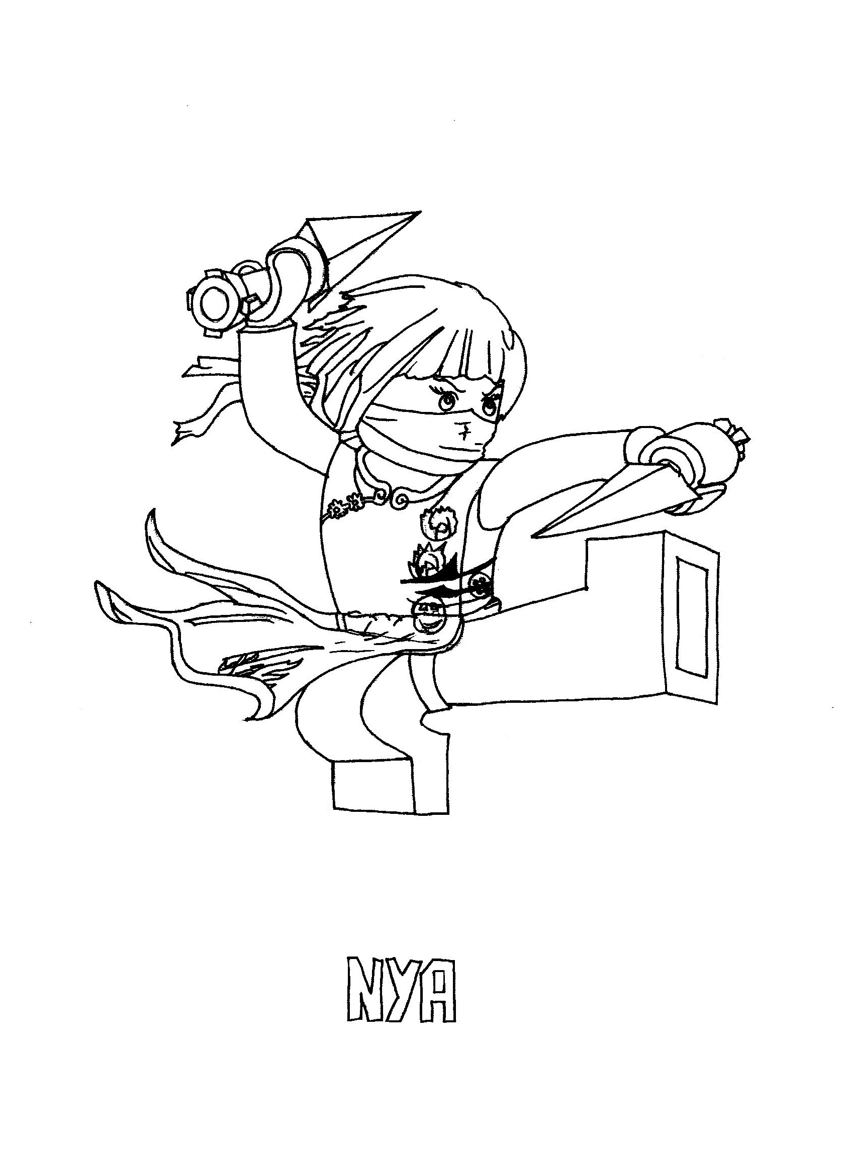 Free printable ninjago coloring pages for kids for Print out coloring pages