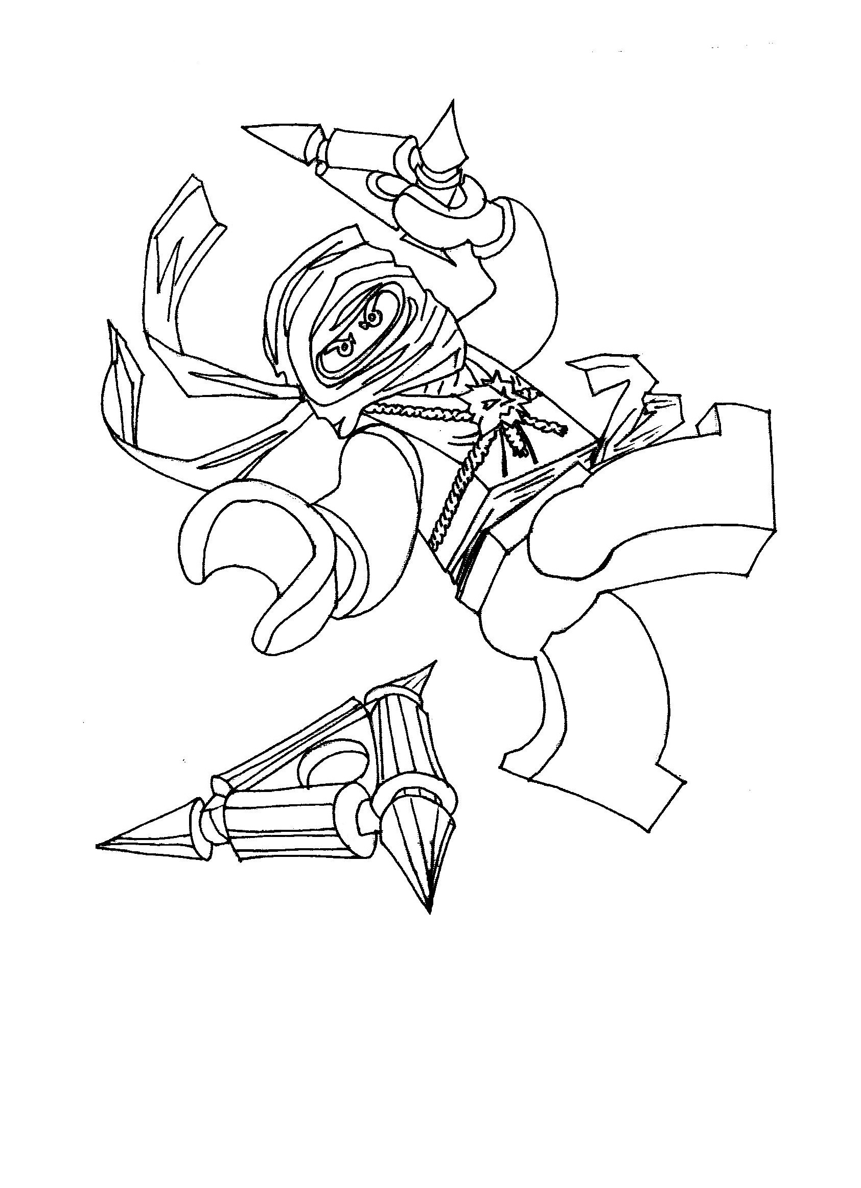 Lego Ninjago Characters Coloring Pages