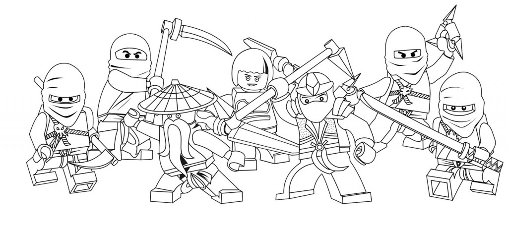 Ninjago Coloring Pages Printable