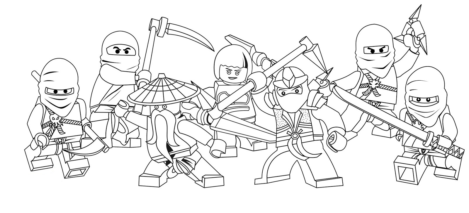 Free printable ninjago coloring pages for kids for Coloring pages of ninjas
