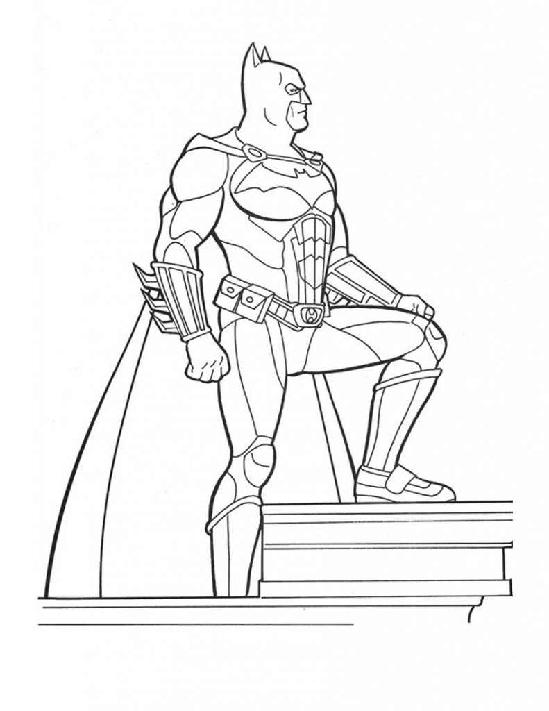 Printable Batman Coloring Pages