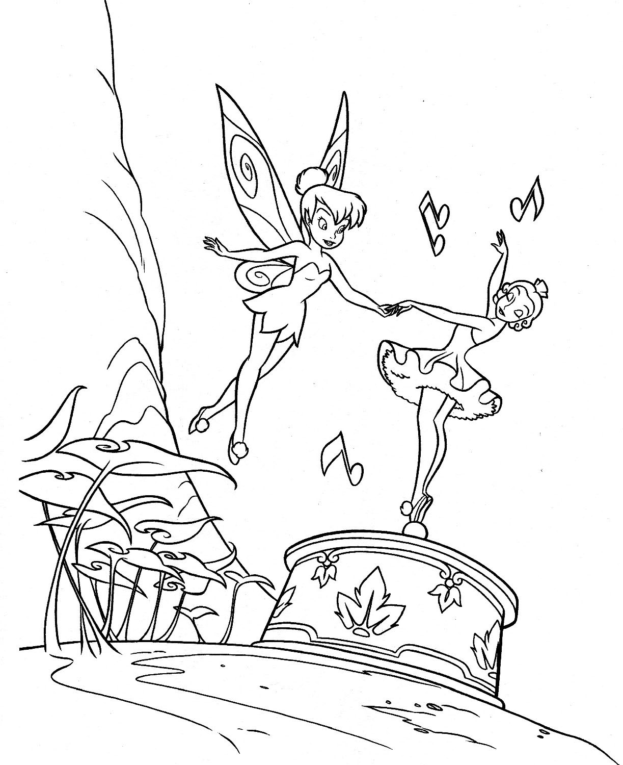 Free printable tinkerbell coloring pages for kids for Free coloring book pages to print