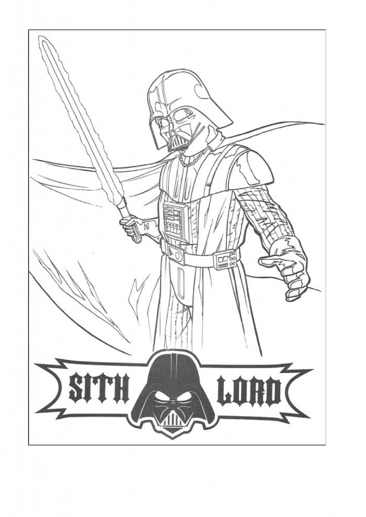 Sith Lord Vader - Star Wars Coloring Pages