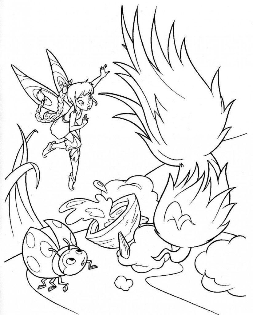 Tinkerbell Printable Coloring Pages