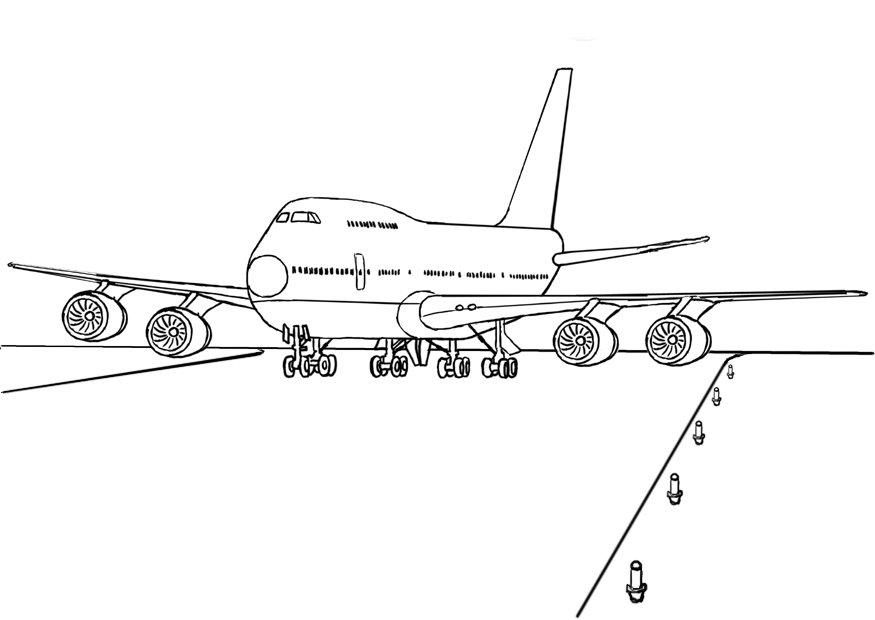 airplane coloring pages pictures