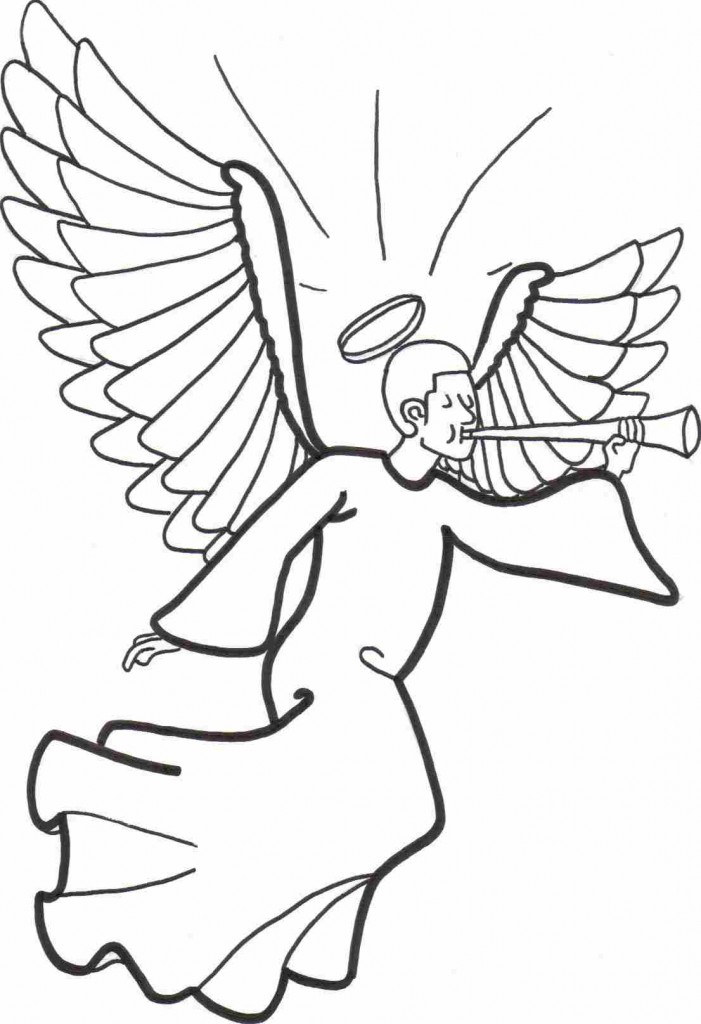 free chldrens angel coloring pages - photo#8