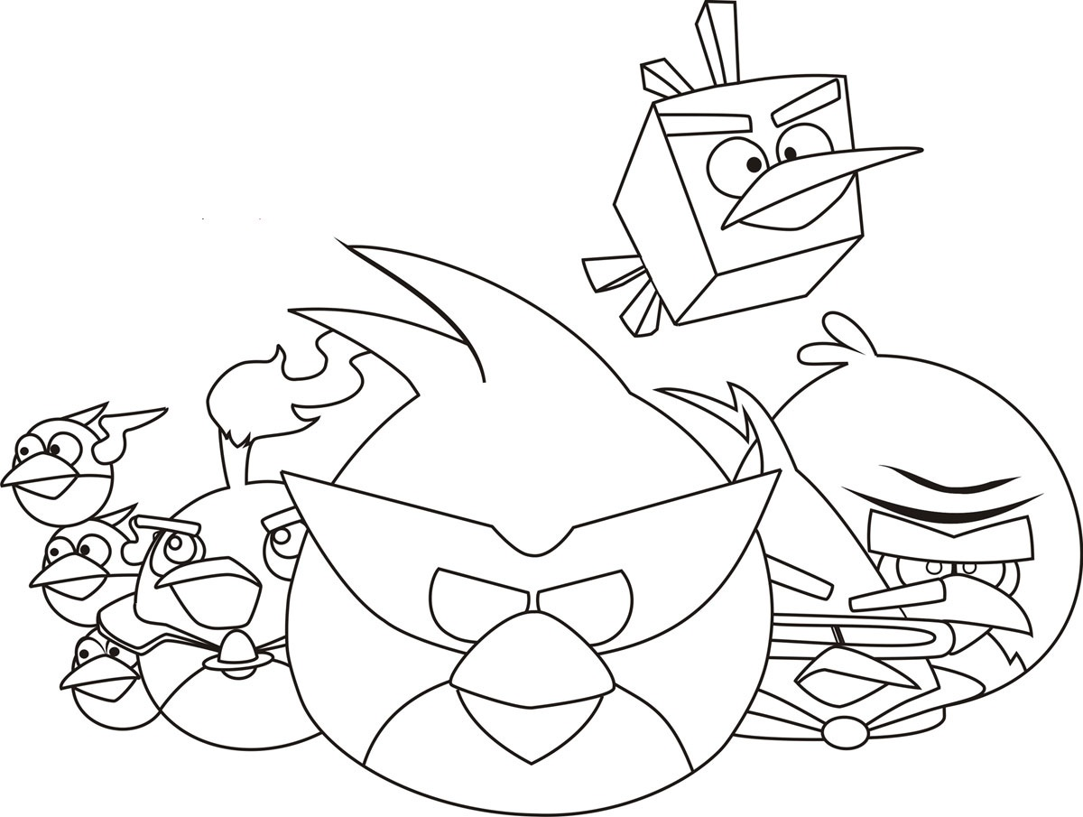 This is a photo of Sassy Angry Birds Coloring Book
