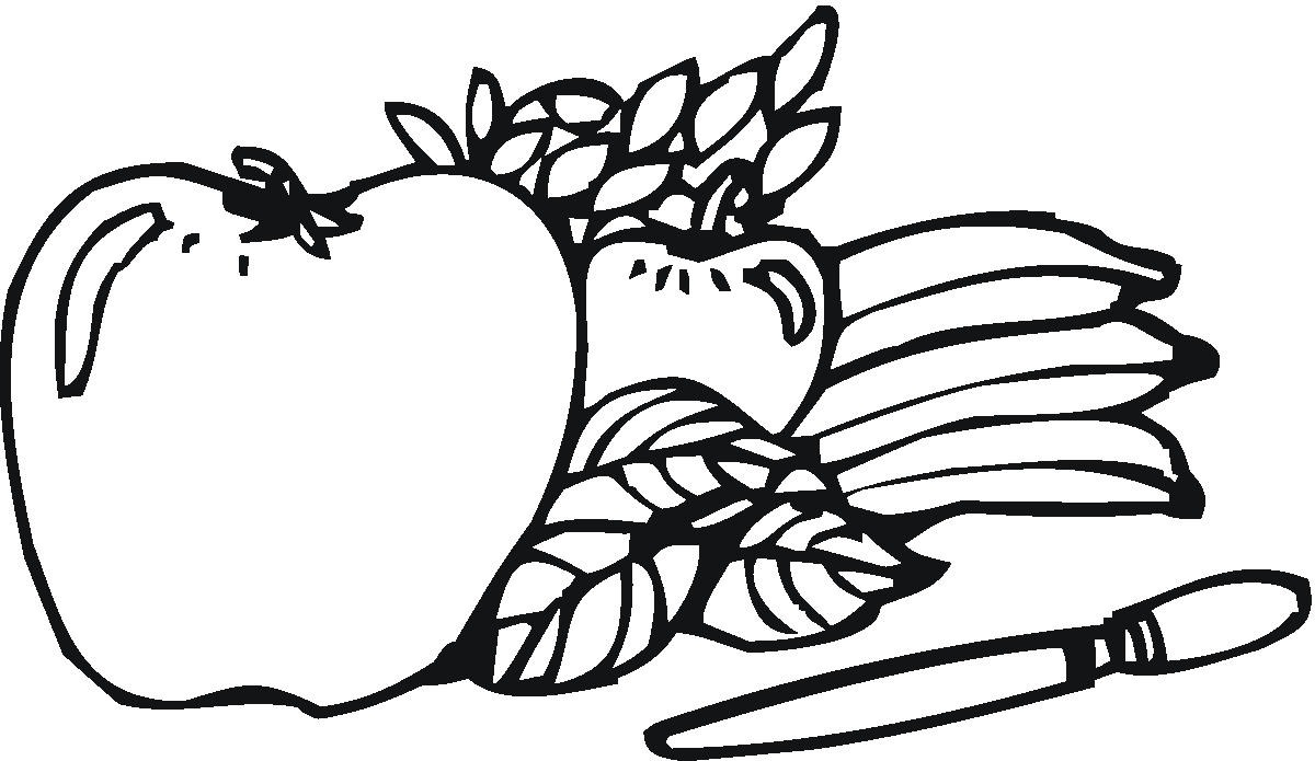 apples coloring pages for kids - photo#14