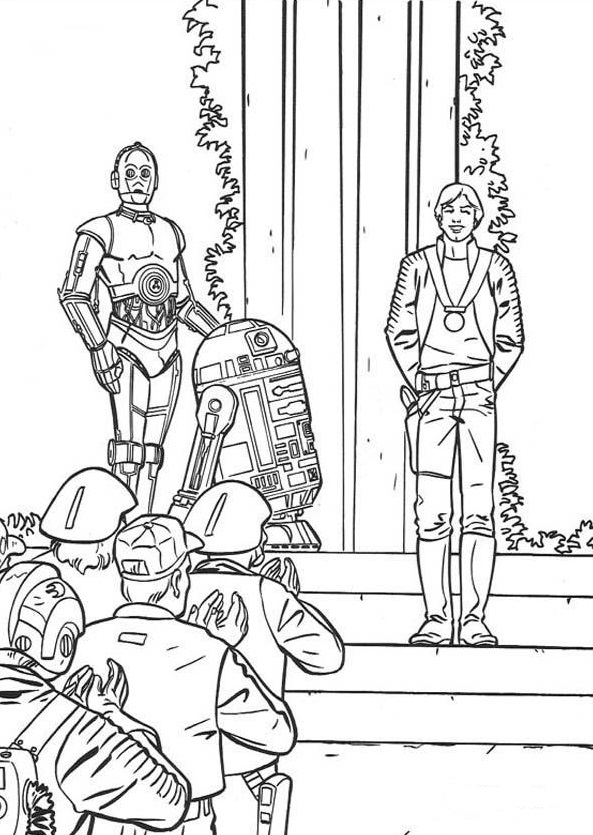 Awards - Star Wars Coloring Pages