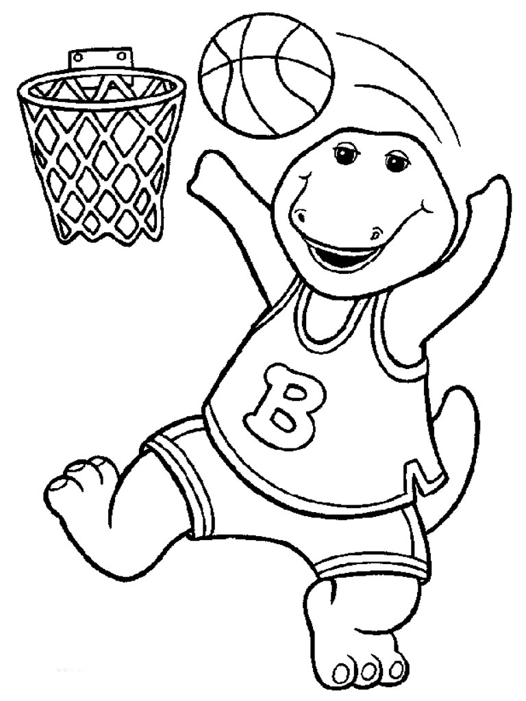 coloring book pages for toddlers - free printable barney coloring pages for kids
