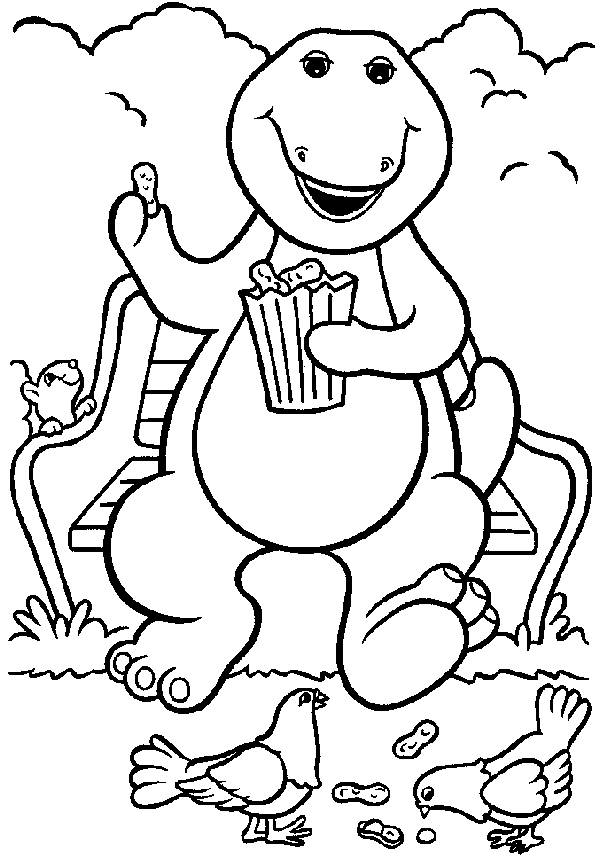 Barney Coloring Pages Images