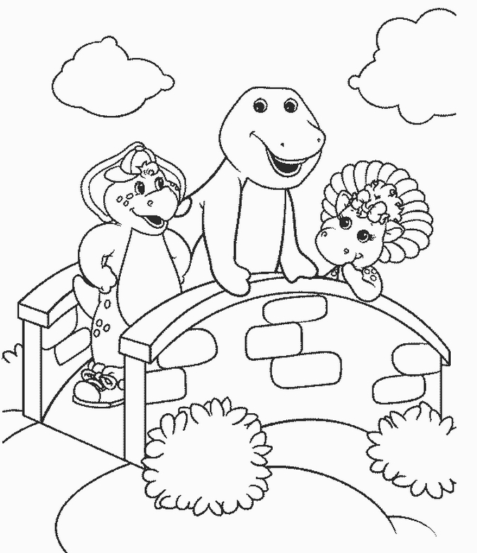 Printable Barney Coloring Pages Coloring Pages
