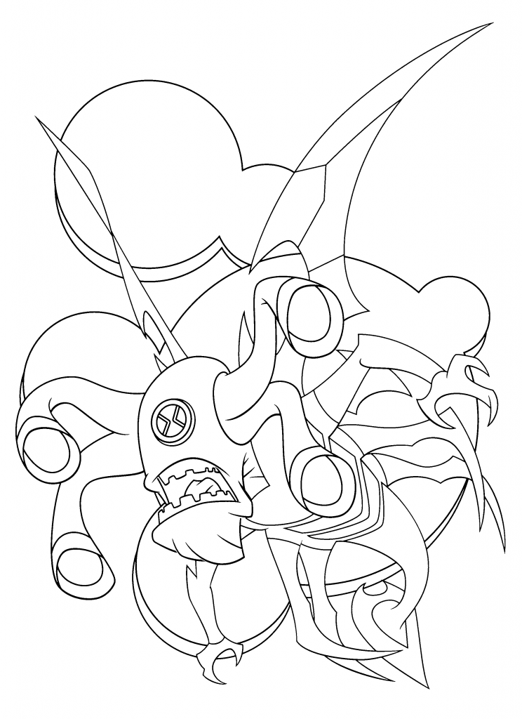 Ben 10 Alien Force Coloring Pages
