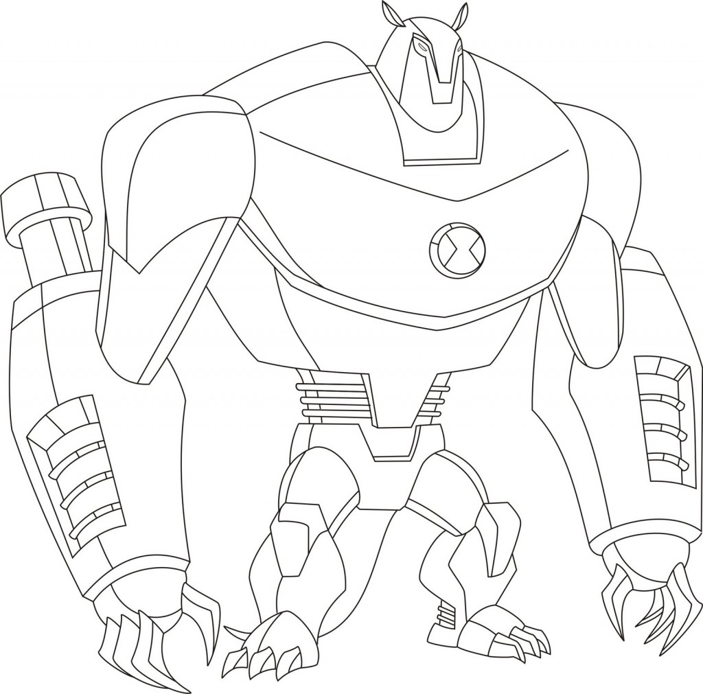 Ben Ten Alien Force Coloring Pages