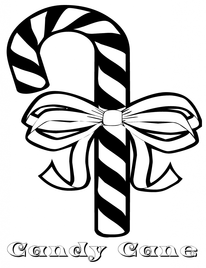 Candy Cane Coloring Pages Photos