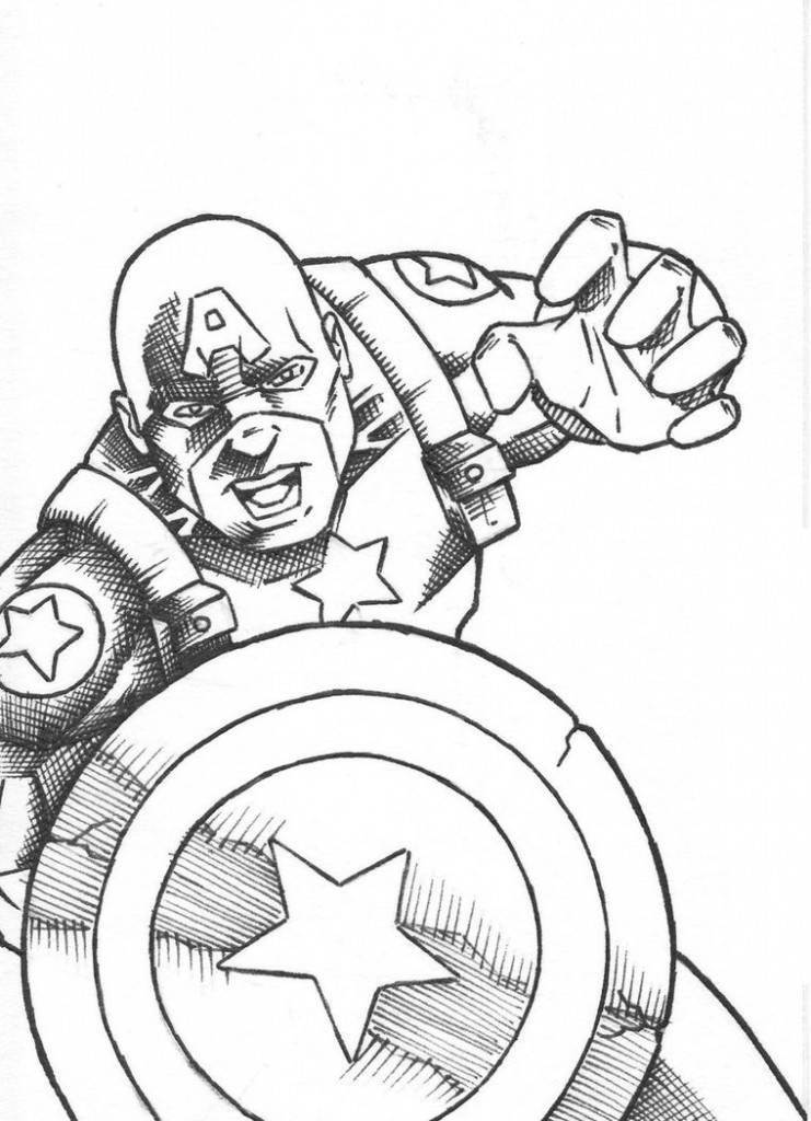 Captain America Coloring Page Pictures