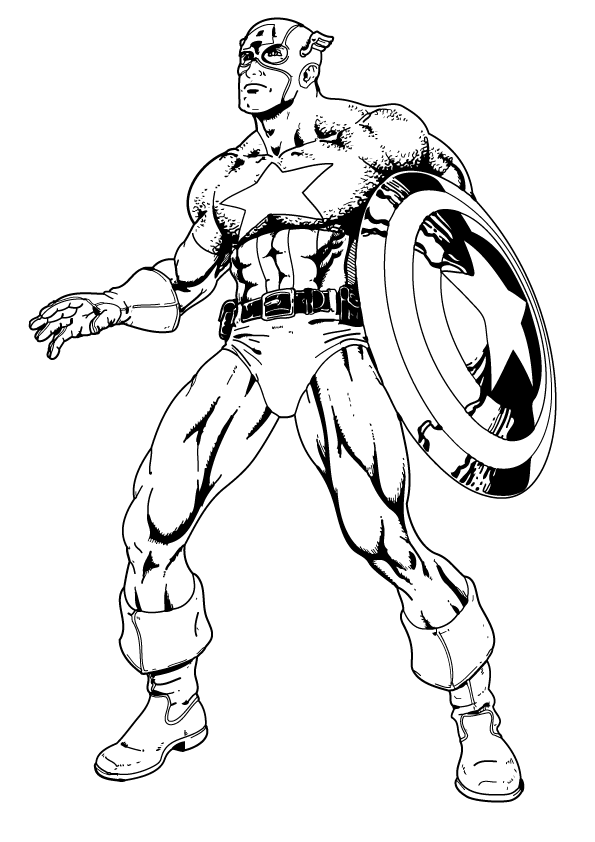 Captain America Coloring Pages Pictures
