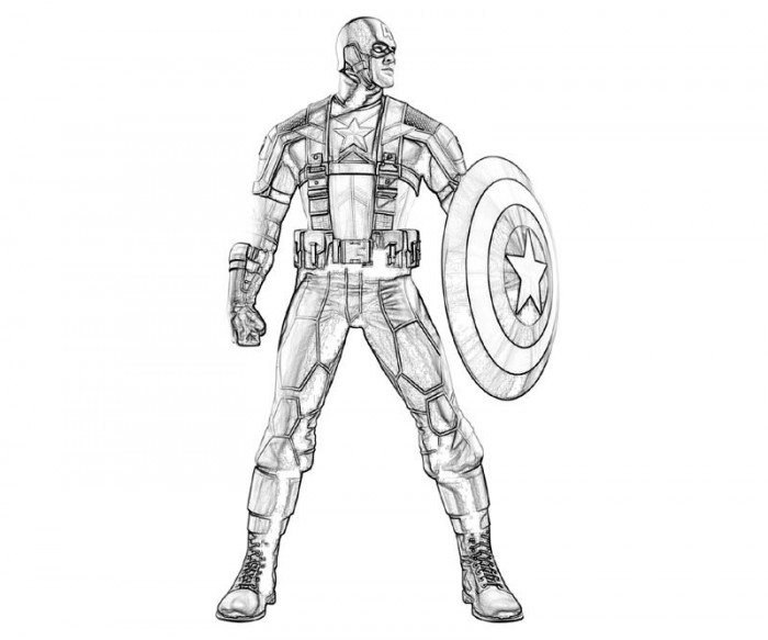Captain America Coloring Pages Print