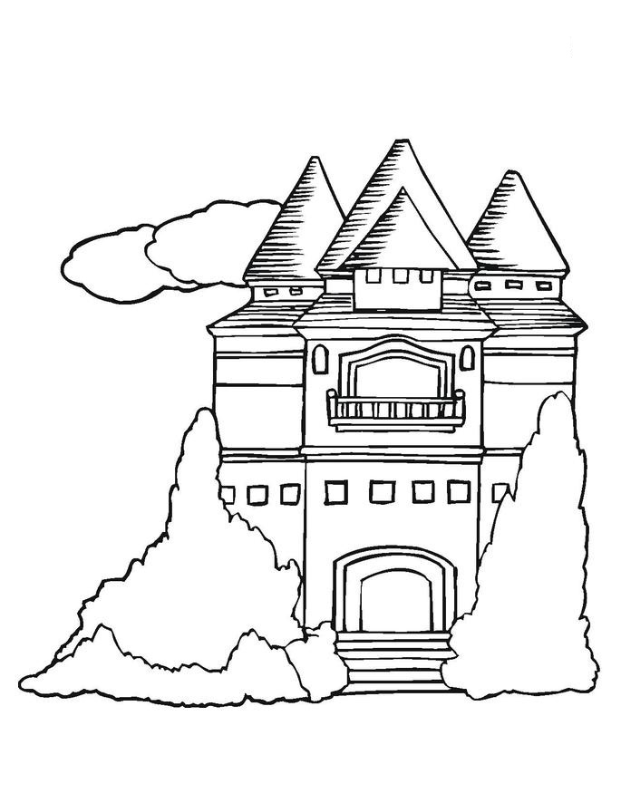 Castle Coloring Pages Images