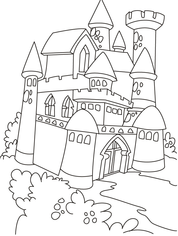 castle coloring pages online - photo#17
