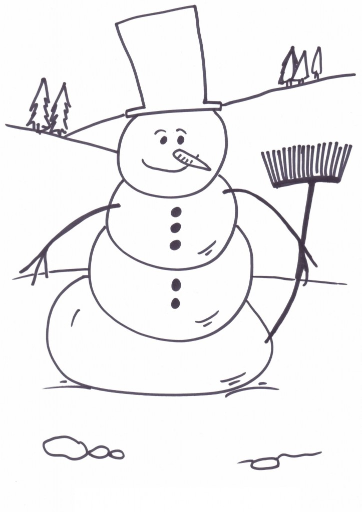 snowmen coloring pages children - photo#29