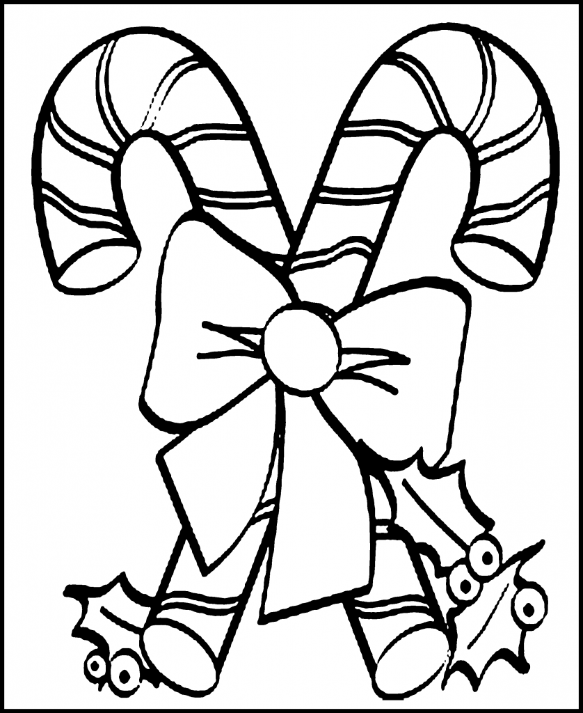 Free printable candy cane coloring pages for kids Coloring book for toddlers