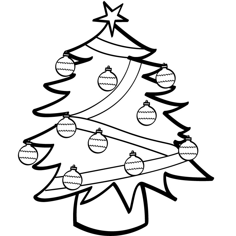 Blank Christmas Tree Coloring Pages Color Page