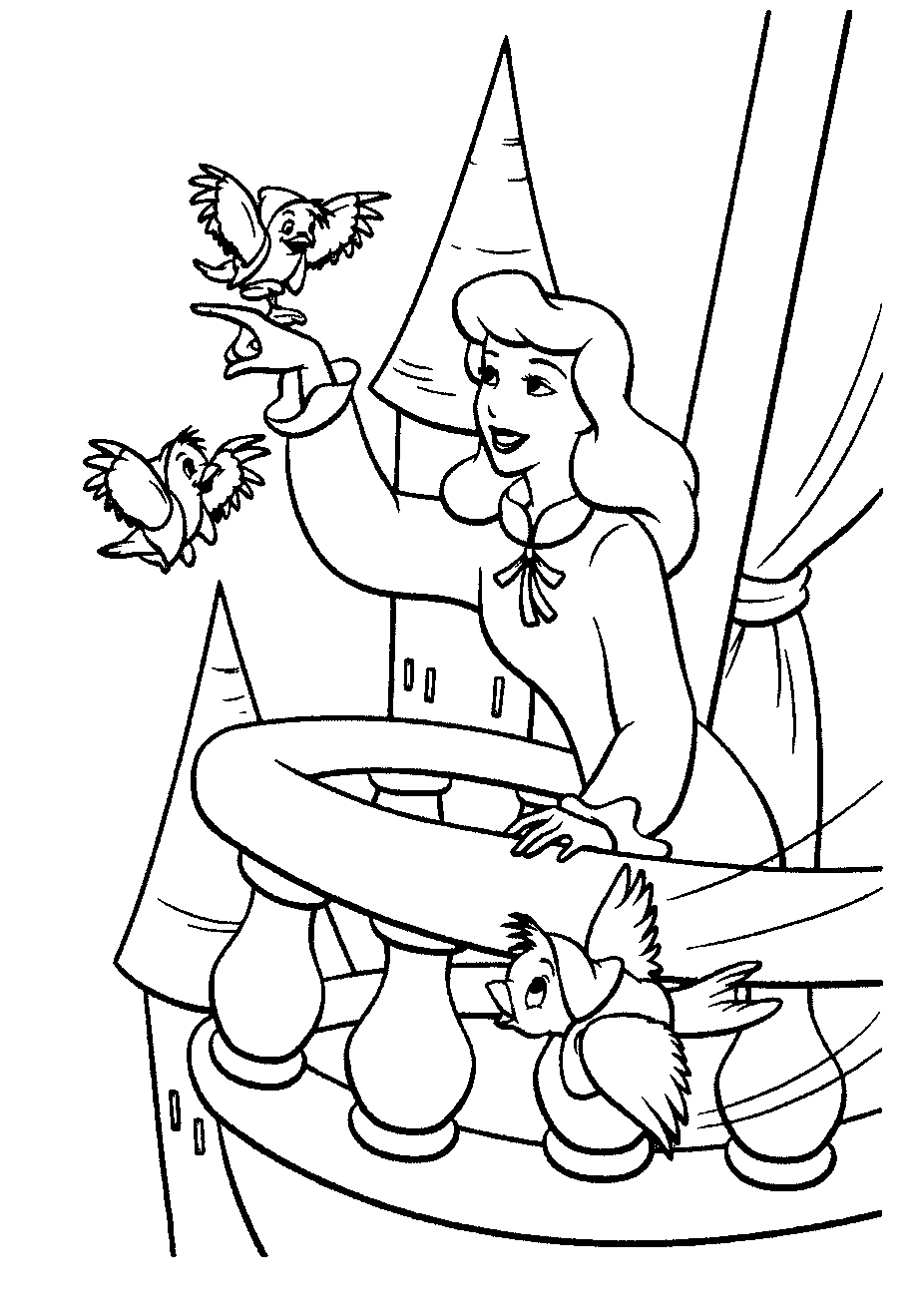 Free printable cinderella coloring pages for kids for Coloring book pages for toddlers