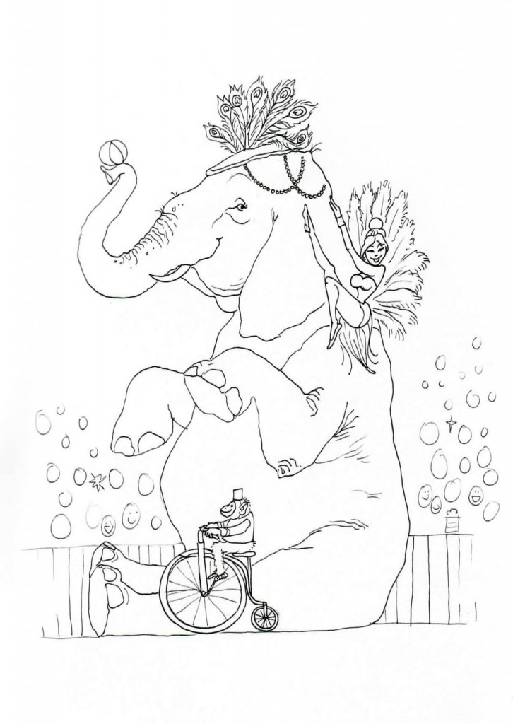 Circus Coloring Page Pictures